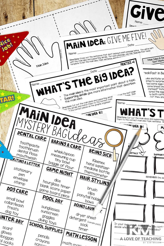 5 Fail-Proof Ways to Teach Main Idea