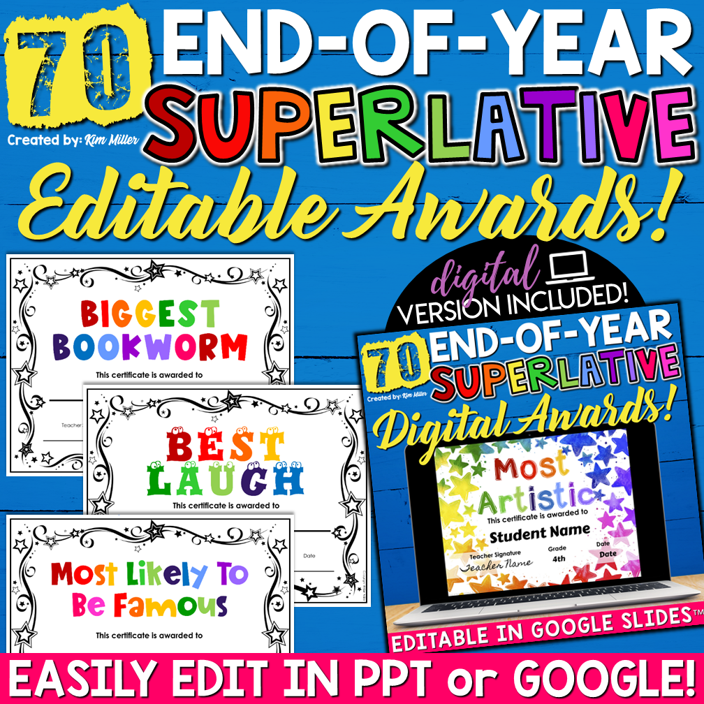 End of Year Superlative Awards Print and Digital
