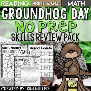 Groundhog Day No Prep Skills Review Pack