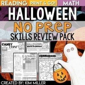 Halloween No Prep Skills Review PAck