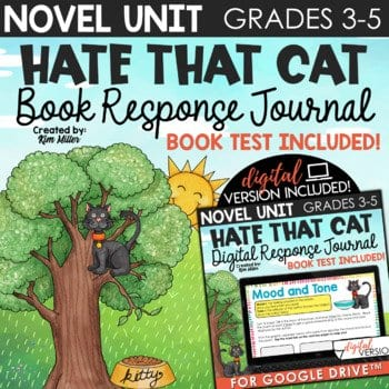 Hate that Cat book study and poetry unit