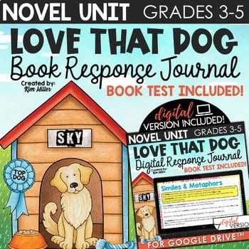 Love that Dog Book Study and Poetry Unit