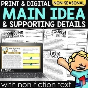 Main Idea with Non Fiction Text