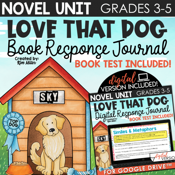 Love That Dog Poetry Unit Print & Digital