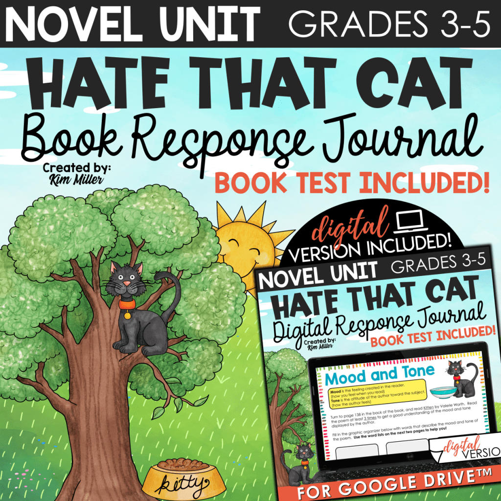 Hate That Cat Poetry Unit Print & Digital