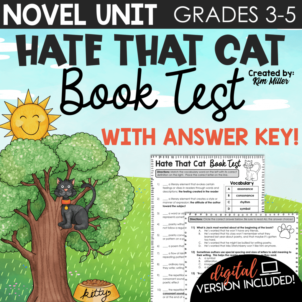 Hate That Cat Book Test