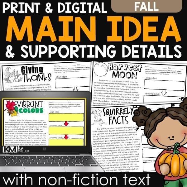 Fall Main Idea with Non Fiction Text