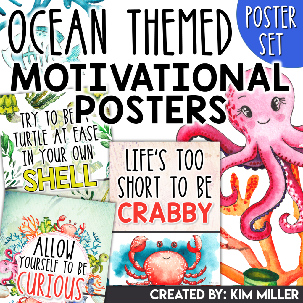 Ocean Themed Motivational Posters