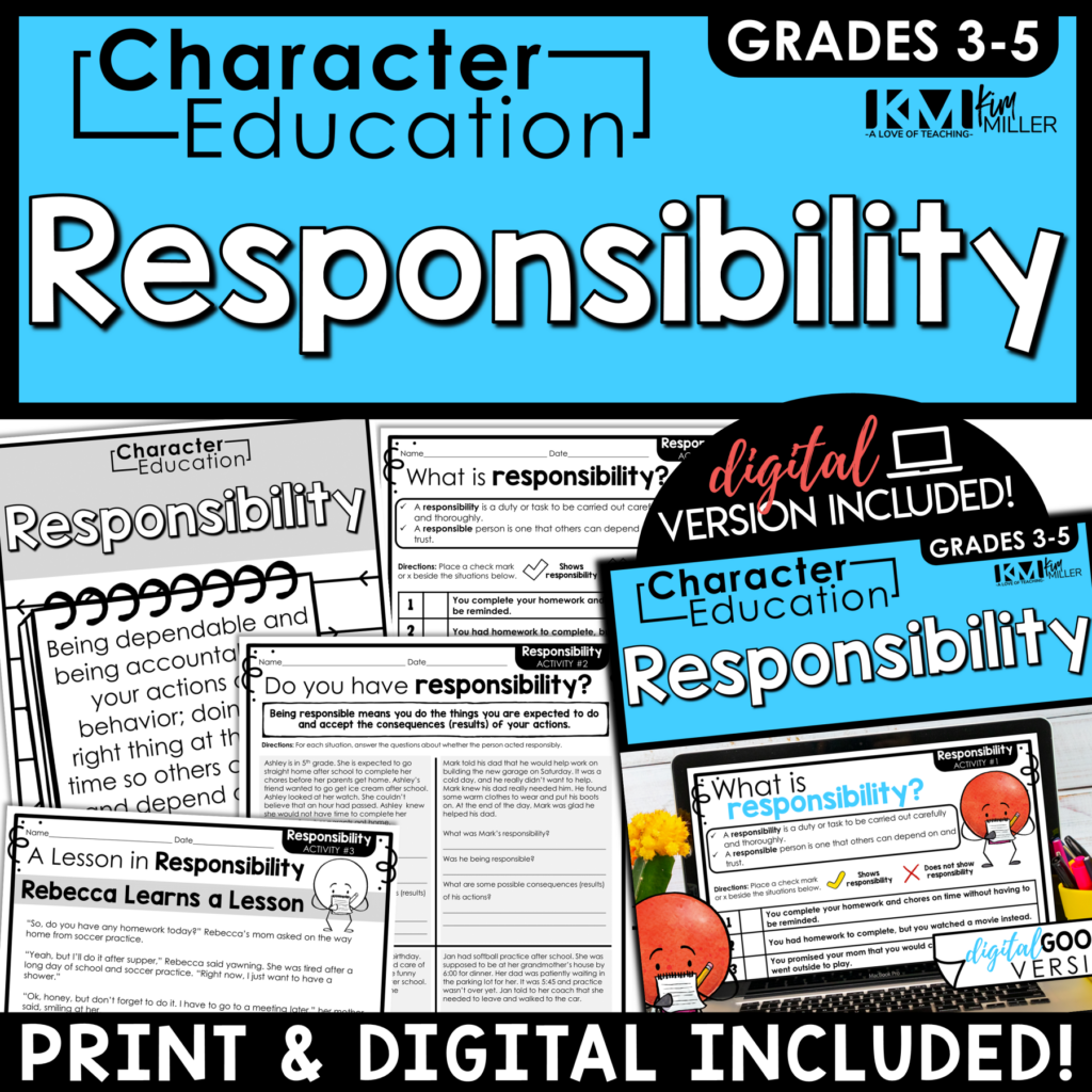 Character Education Responsibility