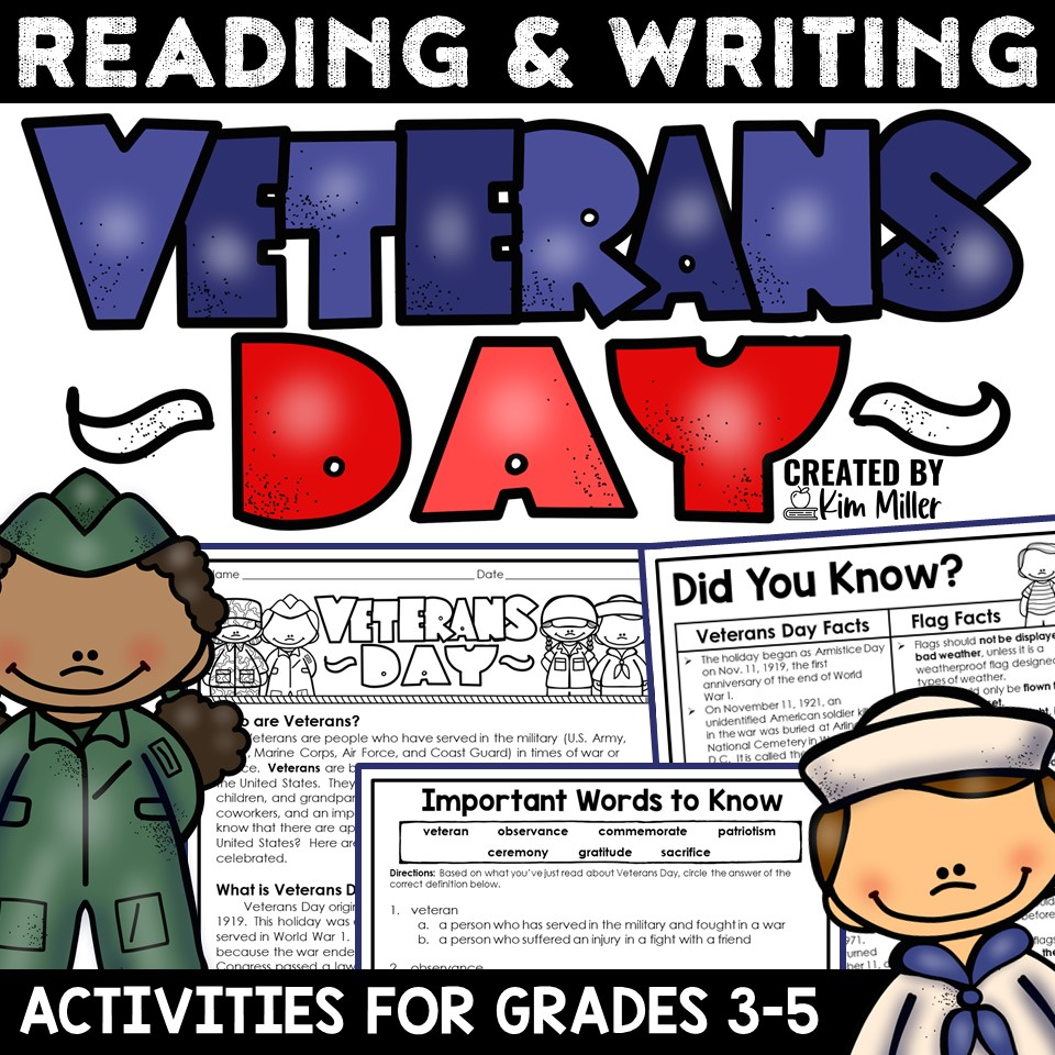 Veterans Day Reading and Writing Packet