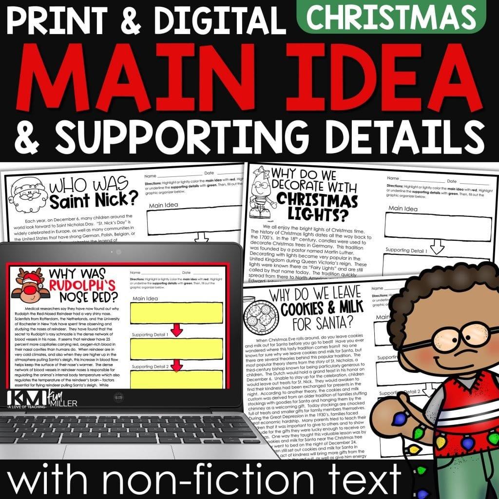 Christmas Main Idea with Non Fiction Text