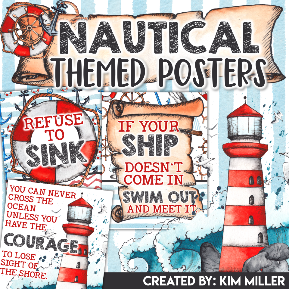 Nautical Themed Classroom Posters