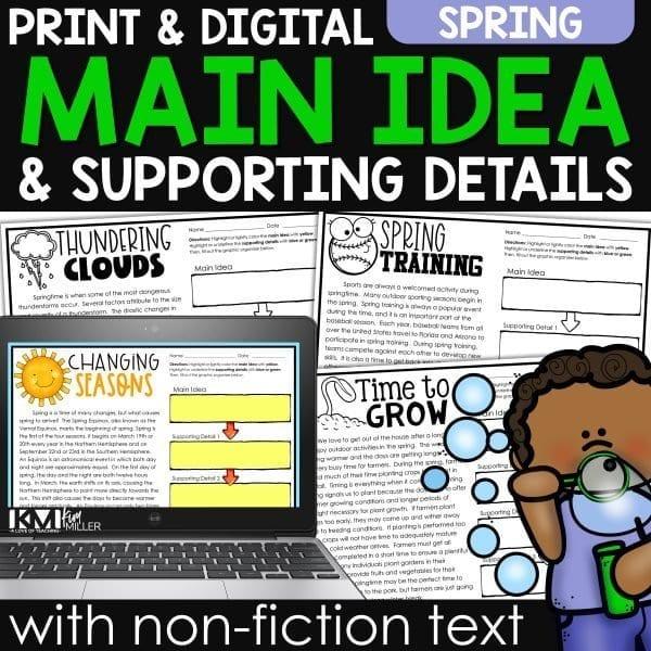 Spring Main Idea with Non Fiction Text