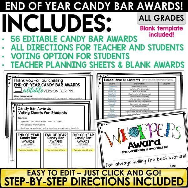 End of Year Candy Bar Awards