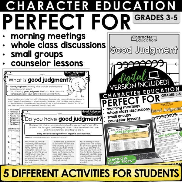 Character Education Good Judgment
