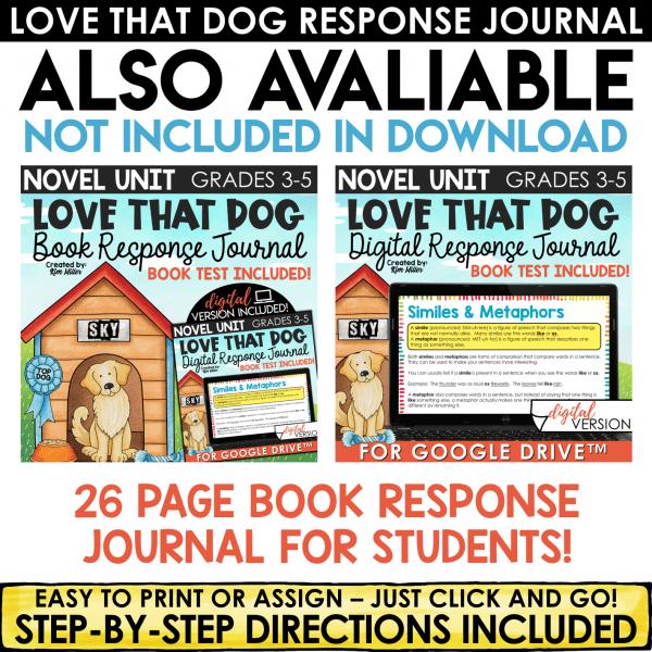 Love That Dog Book Test