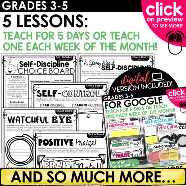Character Education Self Discipline