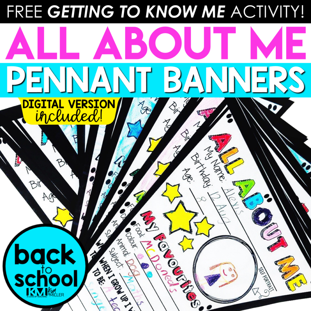 Free All About Me Pennant Banners