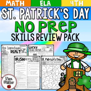 St. Patrick's Day Reading and Math No Prep Activities