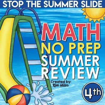 4th grade summer math review