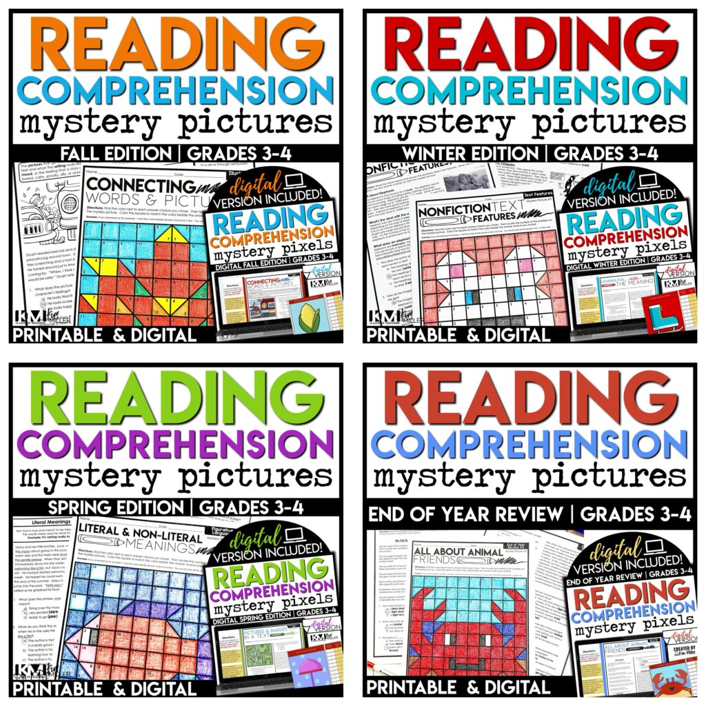 Reading Skills and Strategies Color By Code Activities