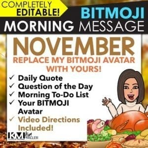 BITMOJI Morning Messages