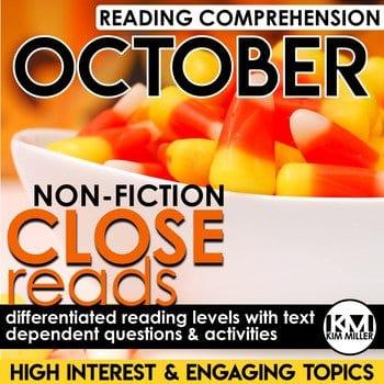 October close reading activities