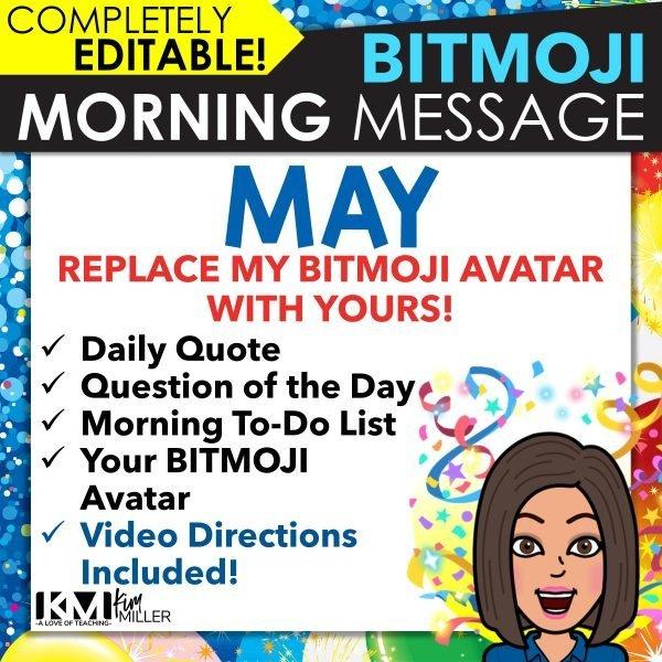 May Bitmoji Morning Message Slides