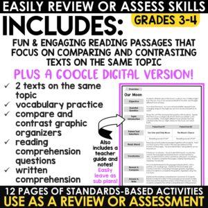 Reading Comprehension Passages Mystery Pictures Grades 3-5 Bundle Print Digital