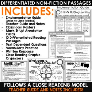 Close Reading Comprehension Passages Halloween Activities October Bundle