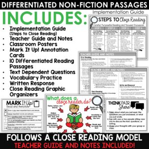 Close Reading Comprehension Passages | Christmas Activities | December Bundle