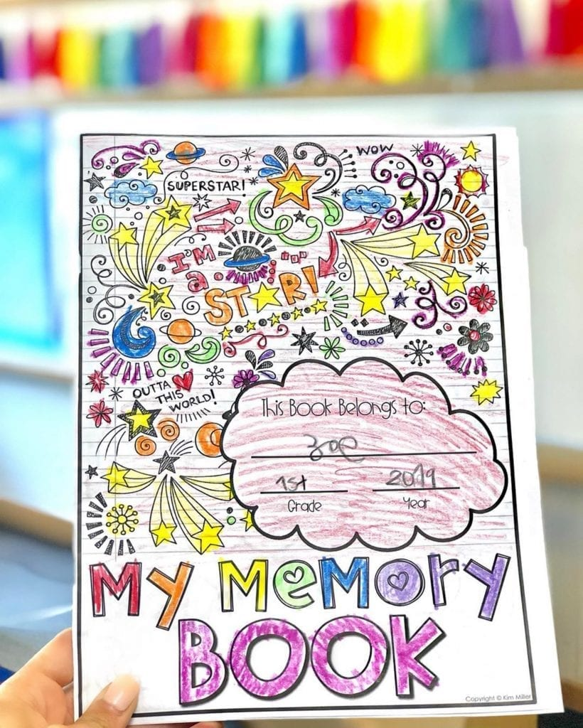 end of the year memory book for upper elementary