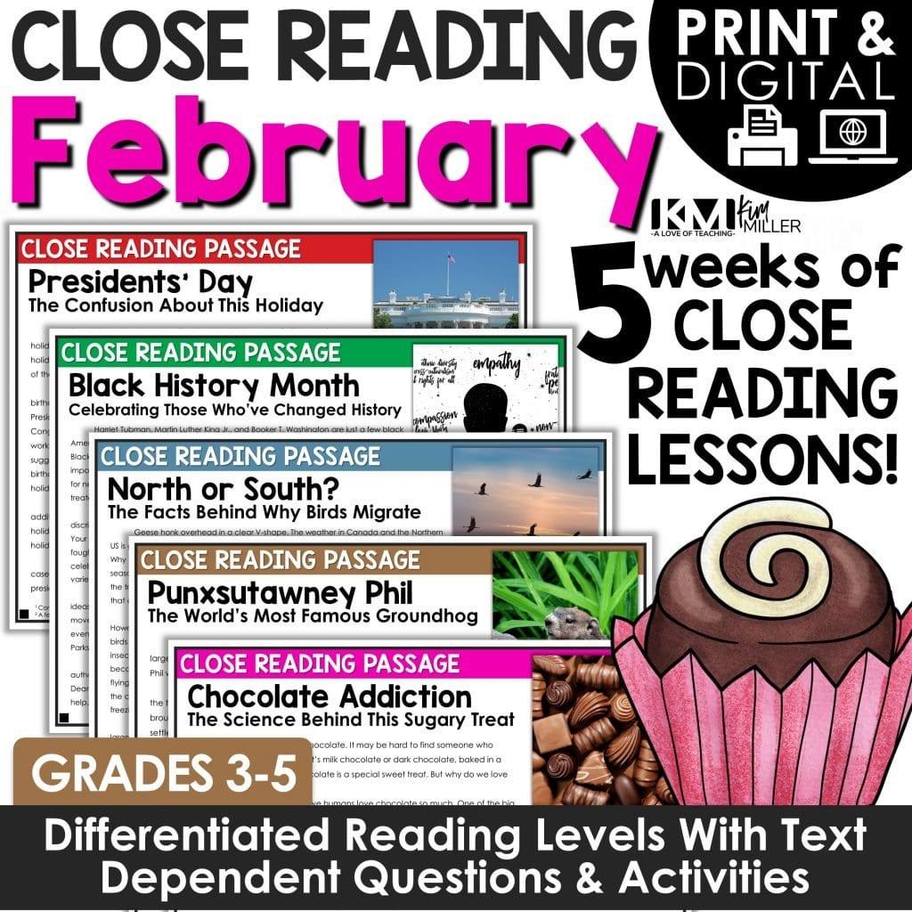 February Close Reading Bundle