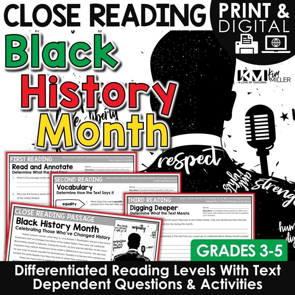 Black History Month Close Reading