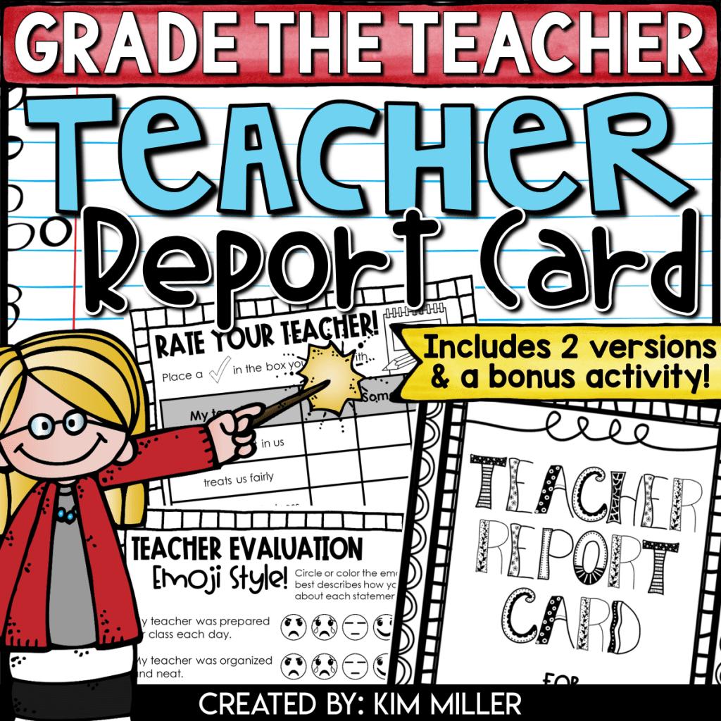 grade the teacher an end of the year activity