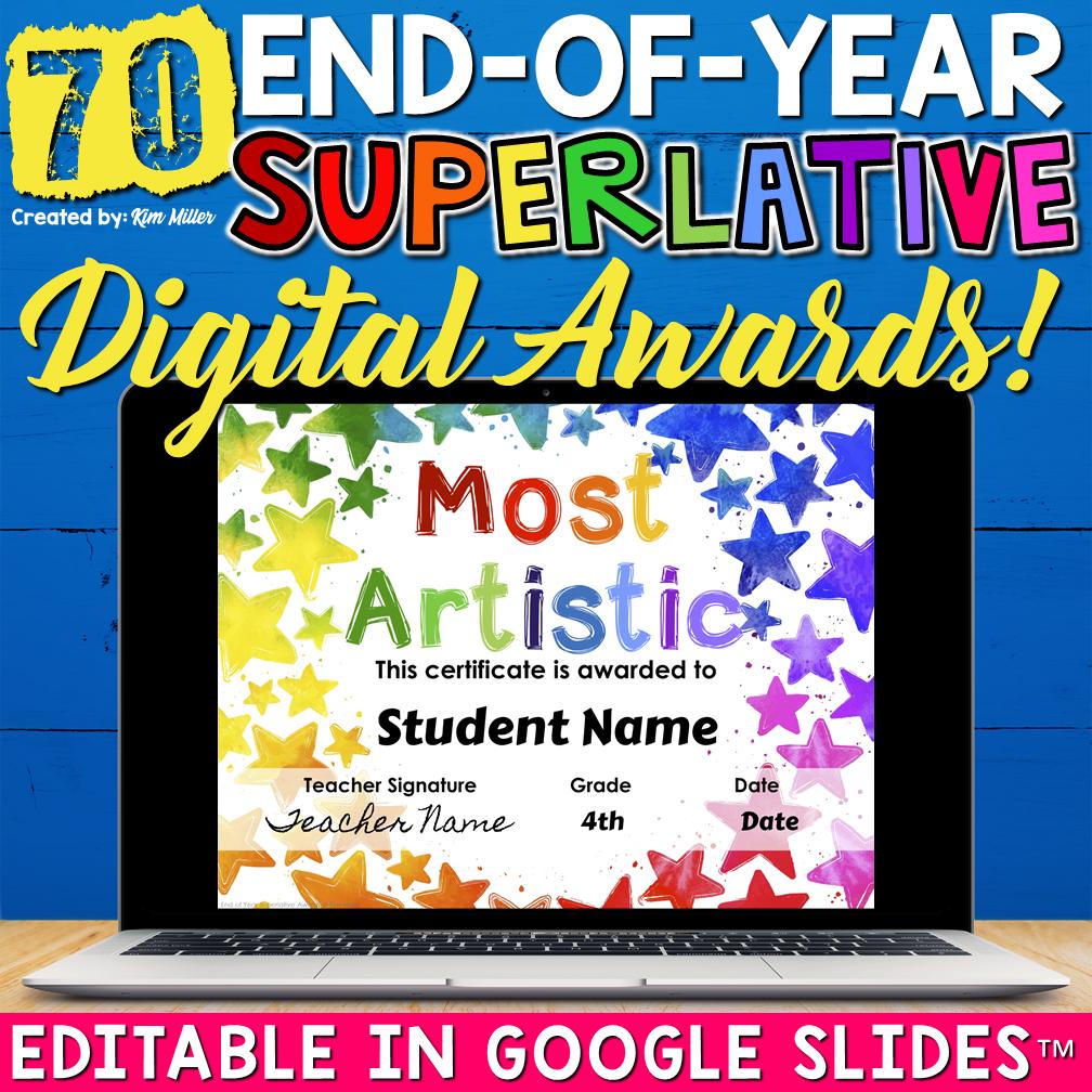 End of Year Superlative Awards Digital Google Slides