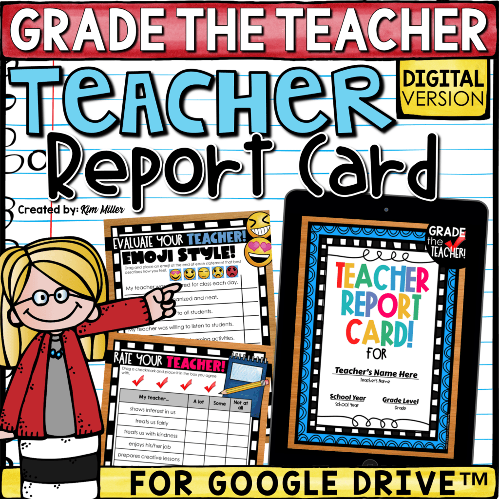 end of the year teacher report card digital version