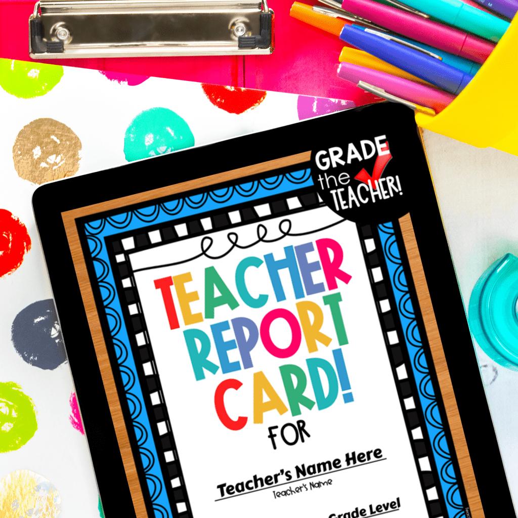 digital teacher report card