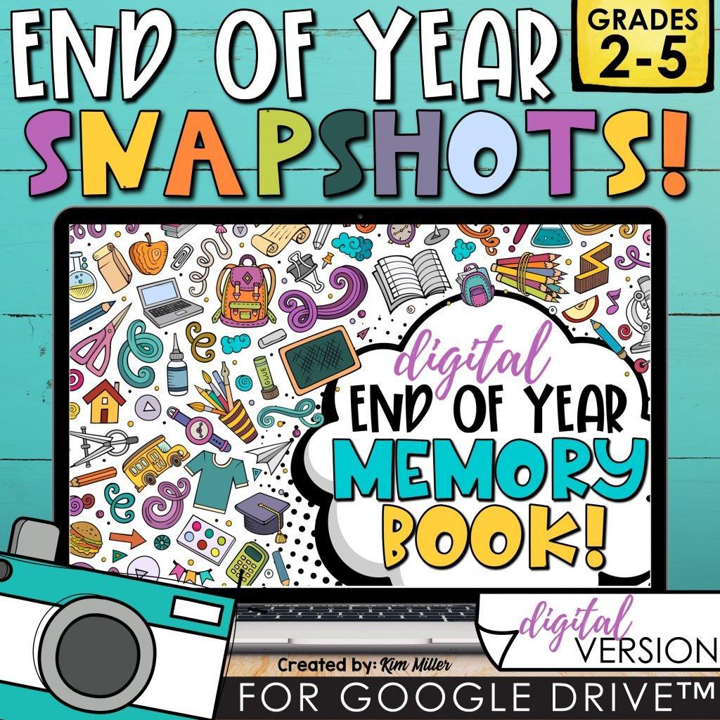 End of Year Memory Book Digital Google Slides