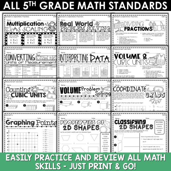5th Grade Math Summer Review