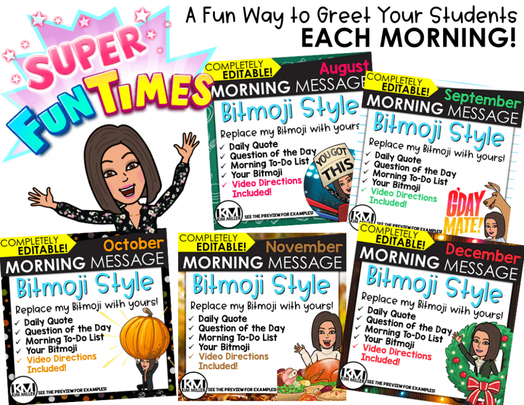 How to Make Your Own Bitmojis to Use in Your Classroom using Bitmoji Morning Messages