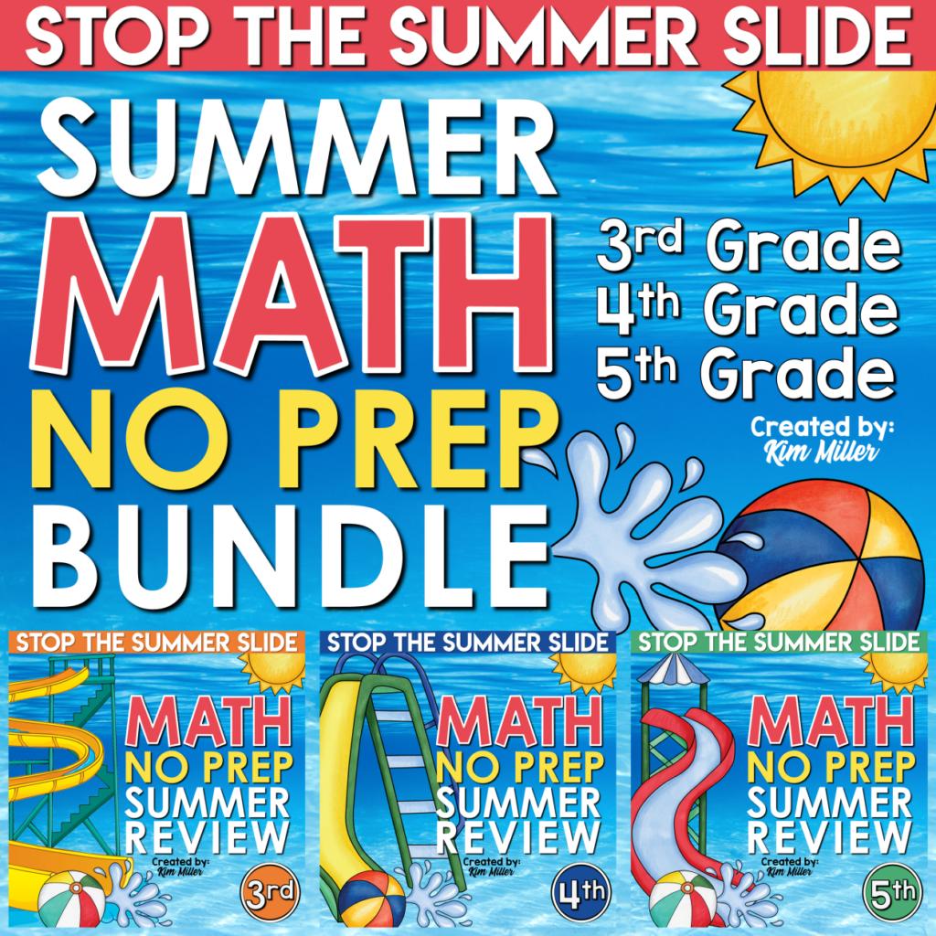 3_5 Math Summer Review Bundle