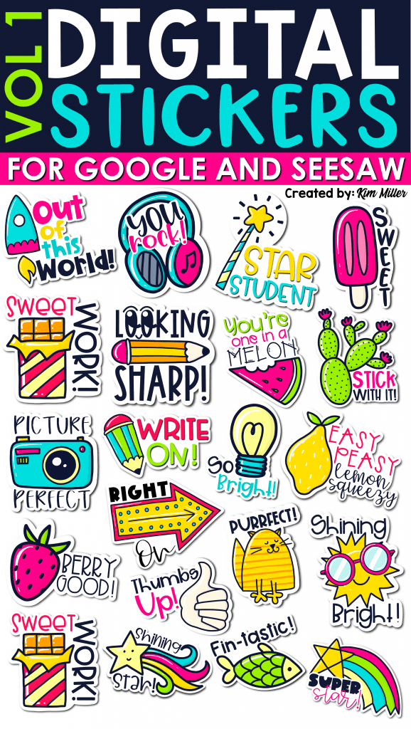digital stickers for google and seesaw set 1