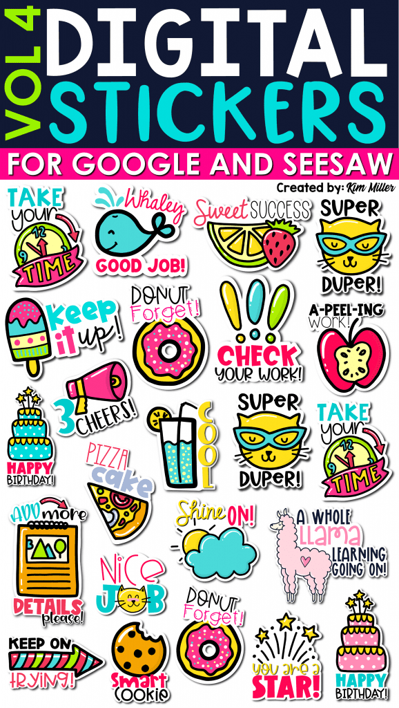 Digital Stickers for Google and SeeSaw Set 4