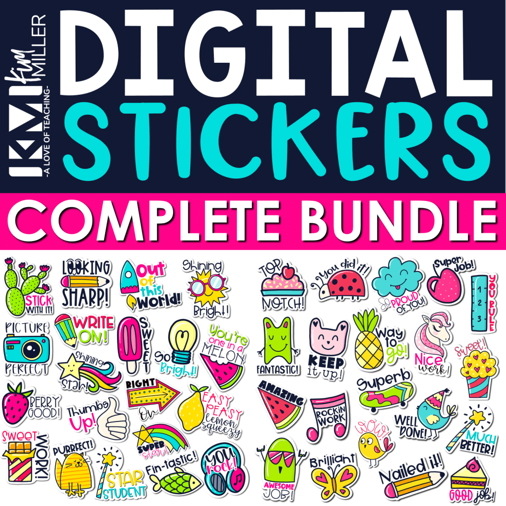 digital stickers for google classroom and seesaw