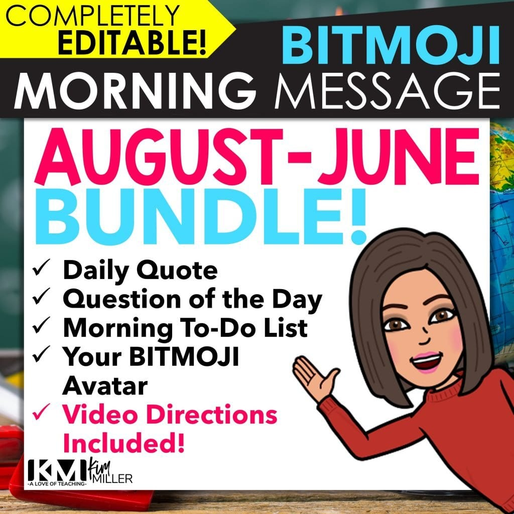 BITMOJI Morning Message helps create a smooth morning routine in the classroom