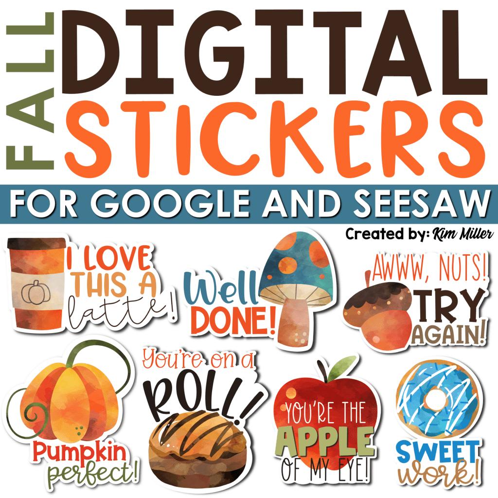Fall Digital Stickers