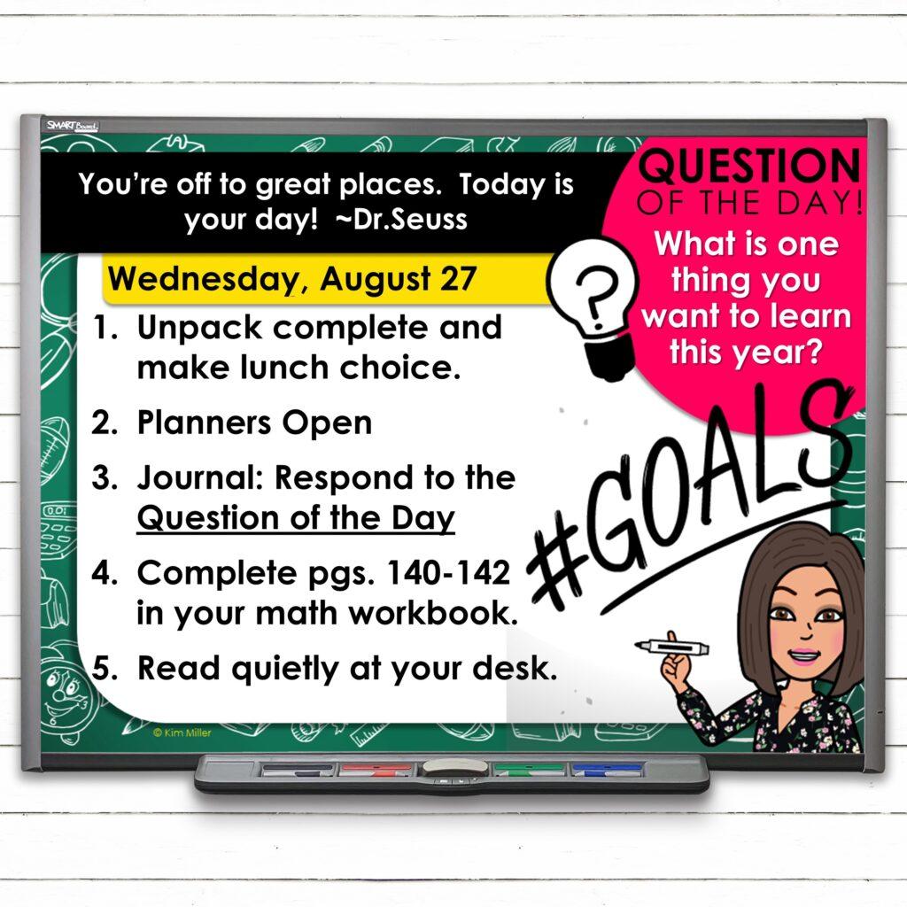 Editable August Classroom Morning Greeting Slides
