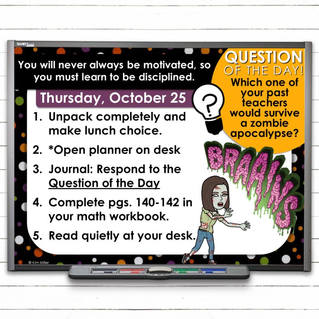 October Classroom Morning Meeting Slides