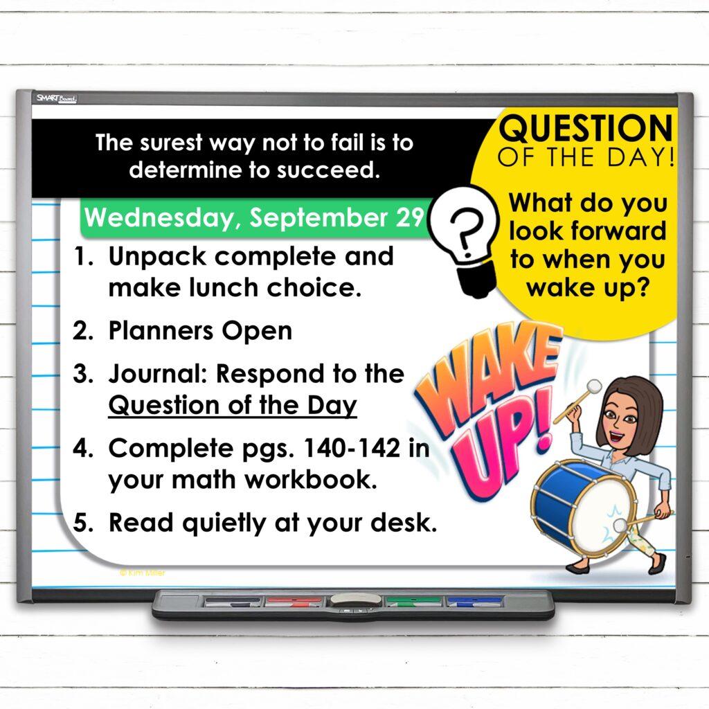 Editable September Classroom Morning Greeting Slides